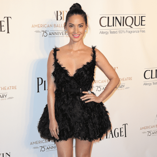 Olivia Munn Wearing Black Swan Lanvin Dress at the Ballet