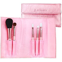 Think Pink: Metallic Sephora Pocket Brush Set
