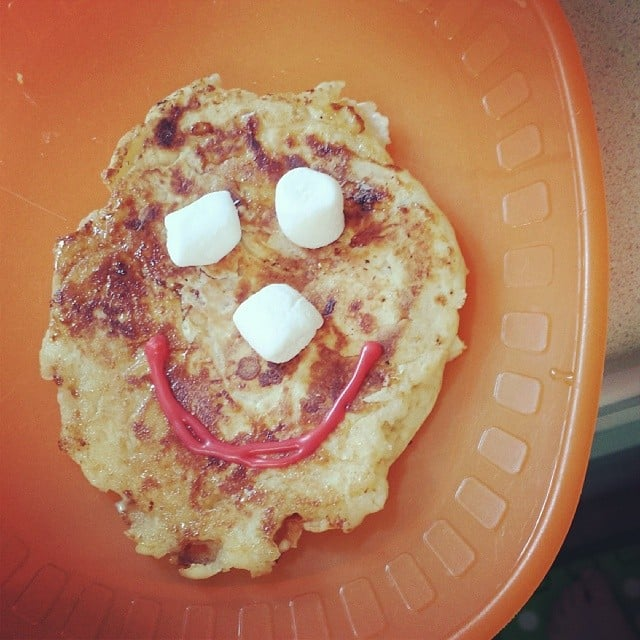 . . . And Failed, So You Just Added a Smiley Face to Regular Pancakes
