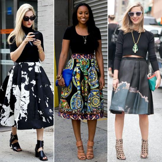 Street Style Full Skirt Trend