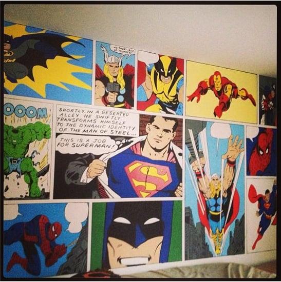 Superhero Bedroom Mural
