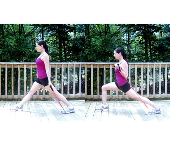 Bicep Curls With Forward Lunges