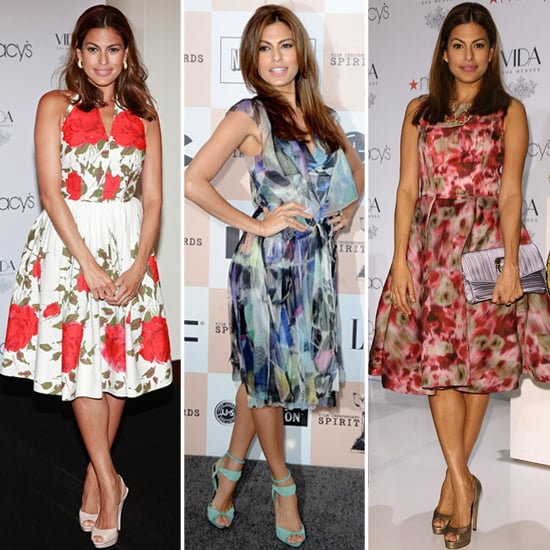 We're Onto Eva Mendes's Spring Fashion Formula: Retro Frocks With Sandals