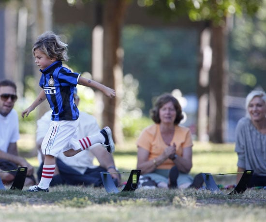 Slide Picture of Kingston Rossdale Playing Soccer in LA