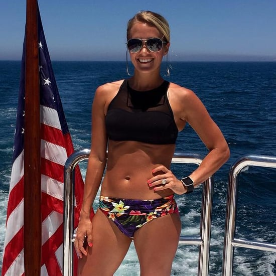 Carrie Underwood makes a splash in a colourful bikini