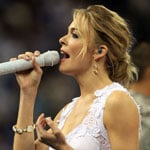 Pictures of LeAnn Rimes Singing National Anthem at NCAA Championship