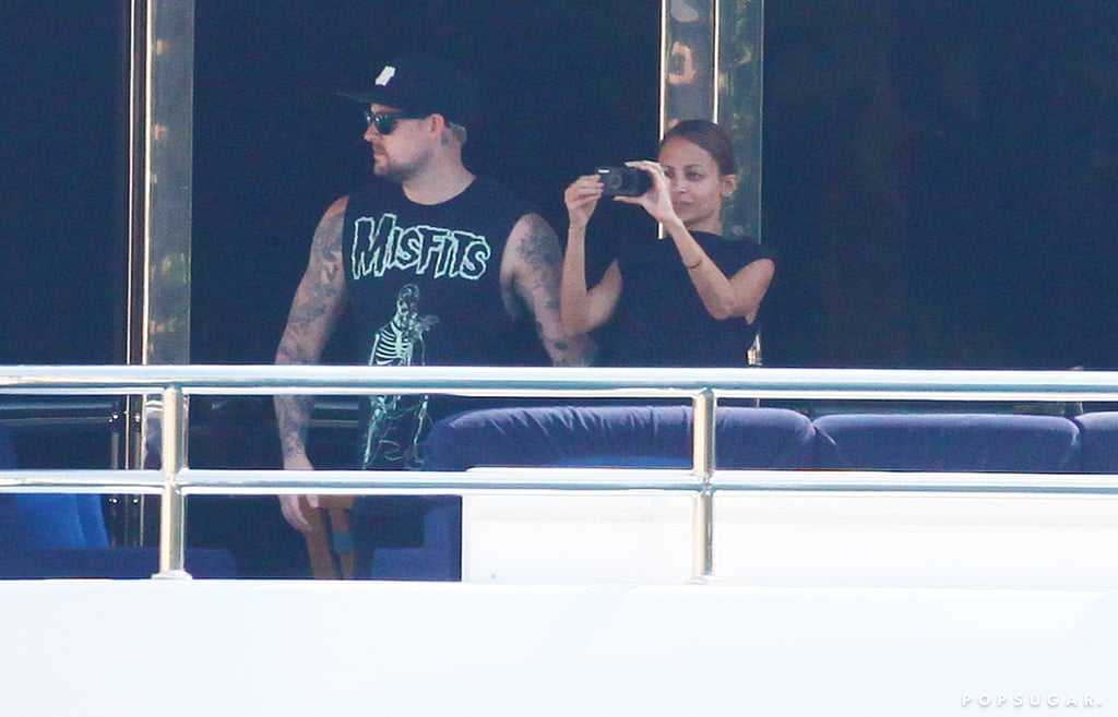 Nicole Richie snapped photos from a yacht.