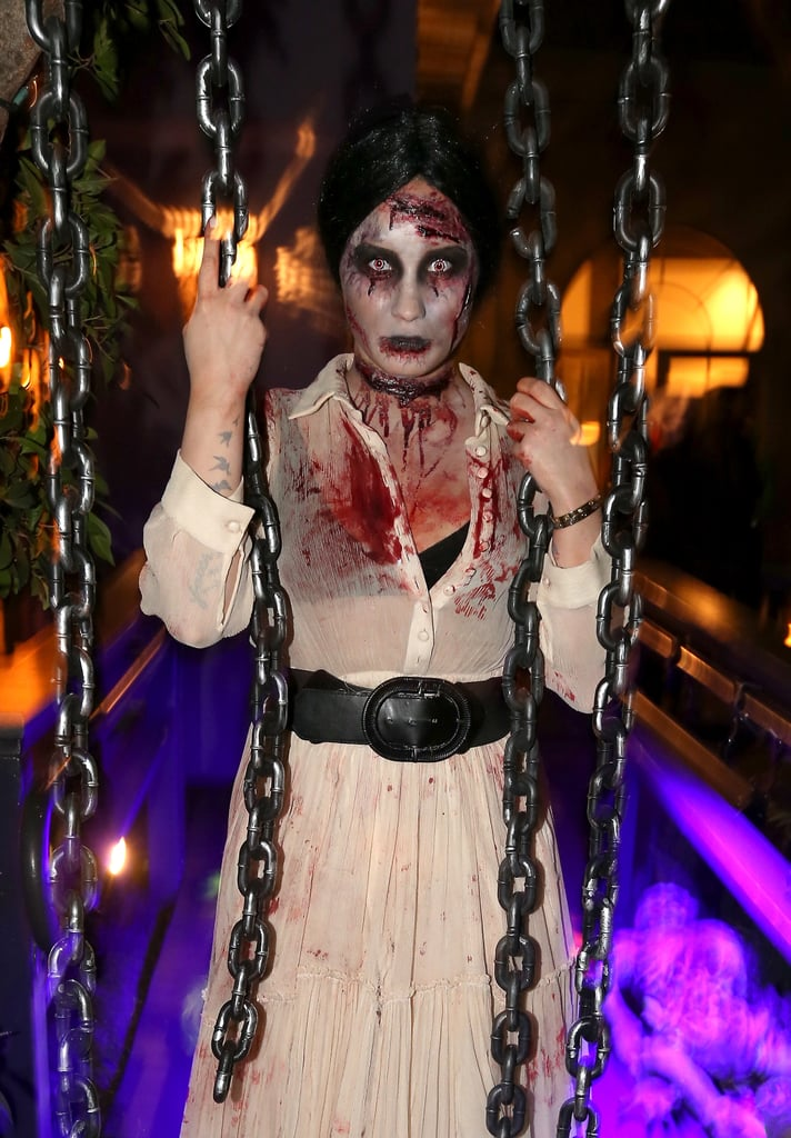 Demi Lovato looked terrifying in the best way at her 2013 LA Halloween party.