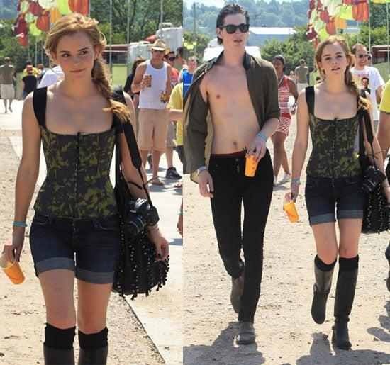Photos of Emma Watson at Glastonbury Music Festival