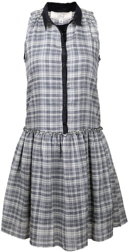 athé by Vanessa Bruno Plaid Sleeveless Colored Dress