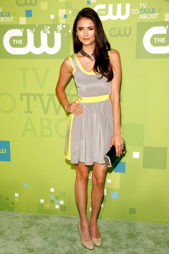 Not one to shy away from colour, Nina showed off her neon side in Jay Godfrey at The CW's 2011 upfronts.