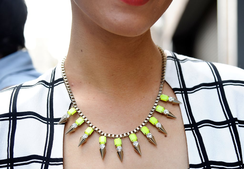 A little neon made this necklace pop.