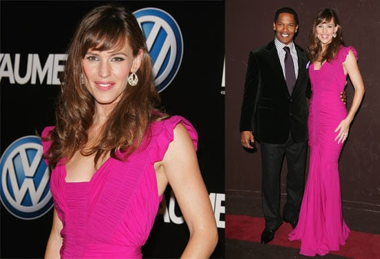 Jennifer Goes Hot Pink In Paris