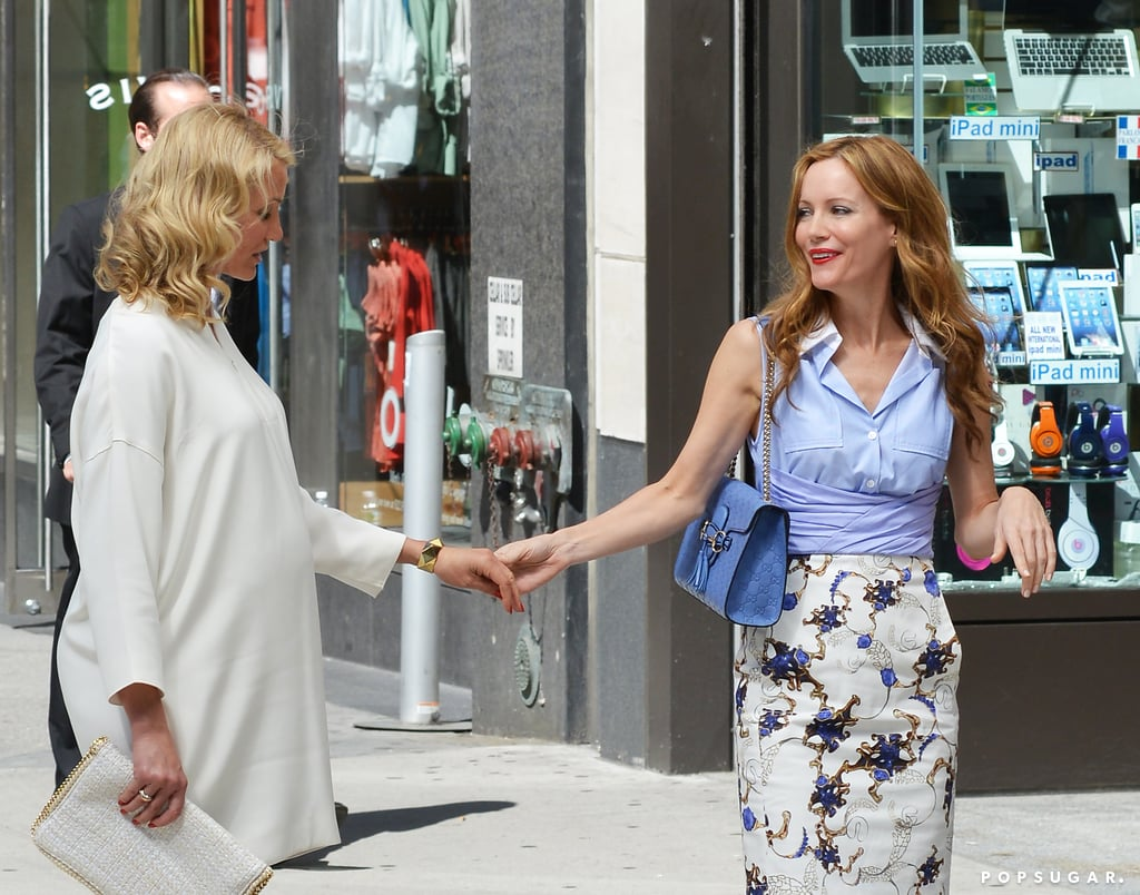 Cameron Diaz and Leslie Mann shot scenes together in NYC.