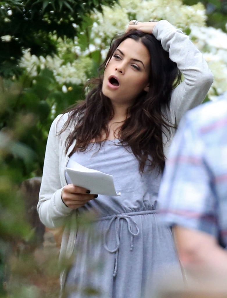 Jenna Dewan let out a yawn.