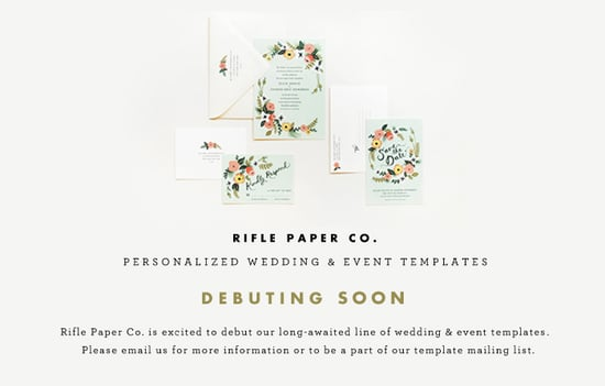 Rifle Paper Co. - Weddings & Events (debuting soon)