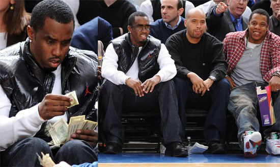 Photos of Jay-Z and Diddy at Knicks Game
