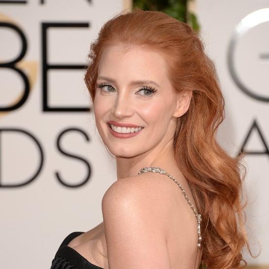 Jessica Chastain's Hair at Golden Globe Awards 2014