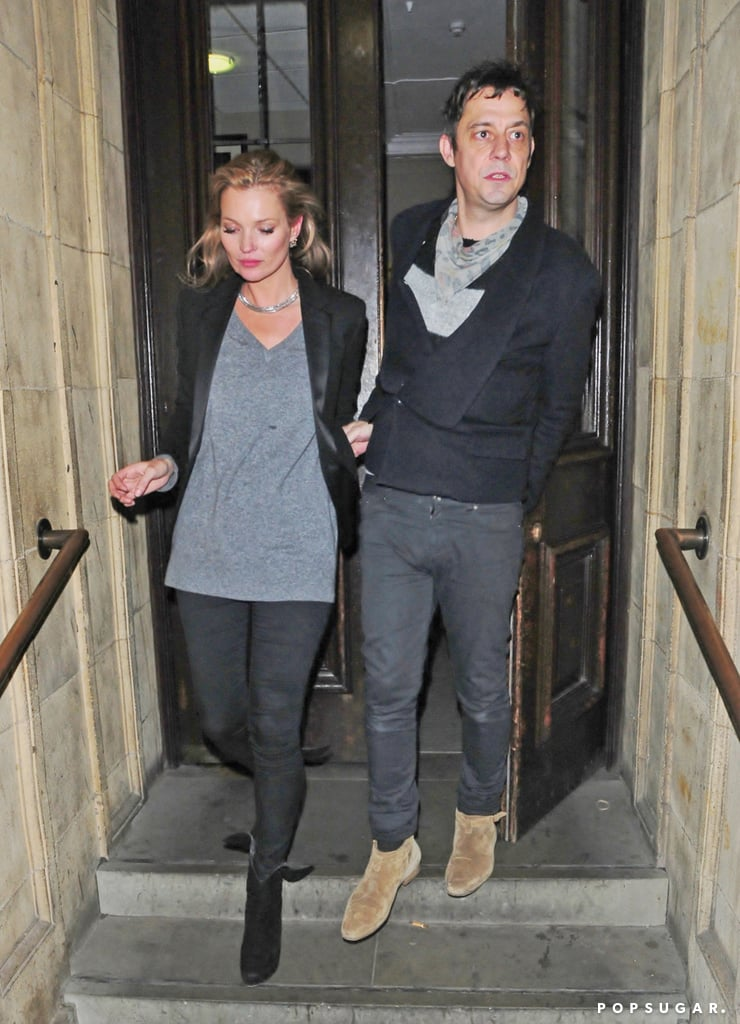 Kate Moss and Jamie Hince left a concert at Royal Albert Hall in London.