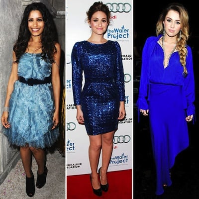 Celebrity Lookbook: Bold Winter Blues