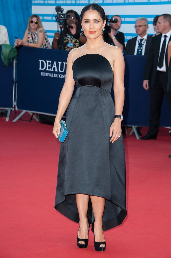 Salma Hayek wore Stella McCartney.