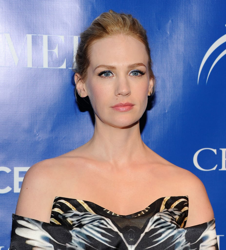 January Jones wore her hair up to a screening of La Revolution Bleue in NYC.