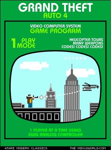 Grand Theft Auto 4, Atari-Style!