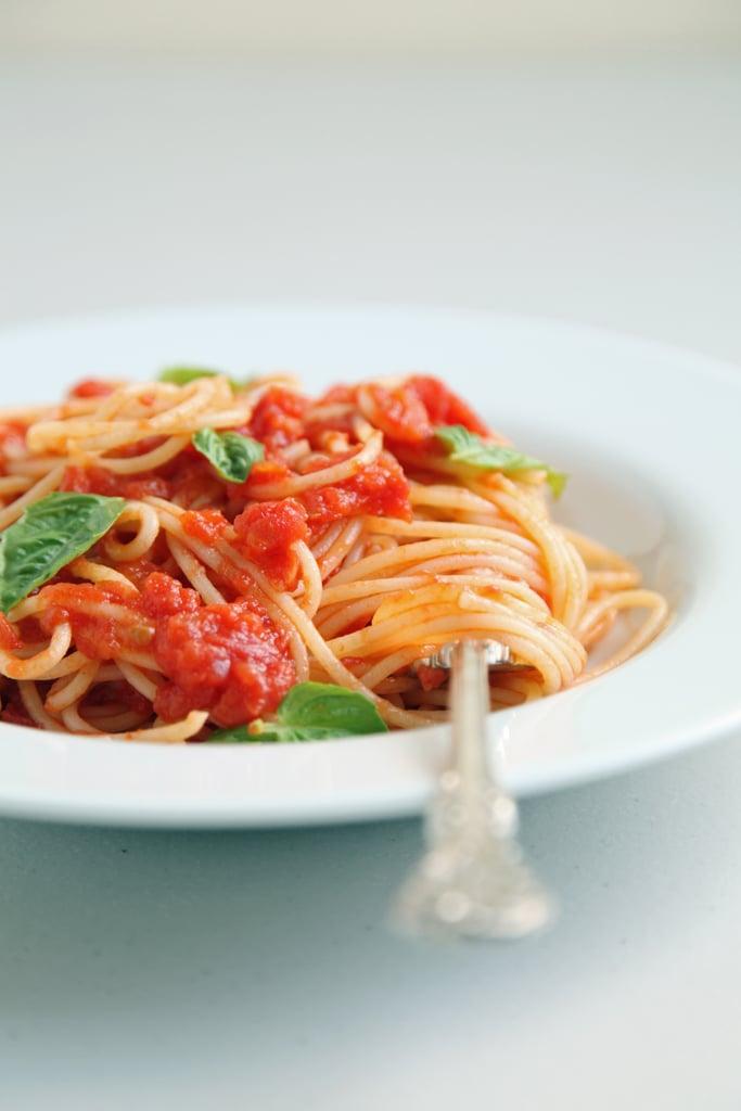 Day Two: Easy Tomato Sauce with Spaghetti