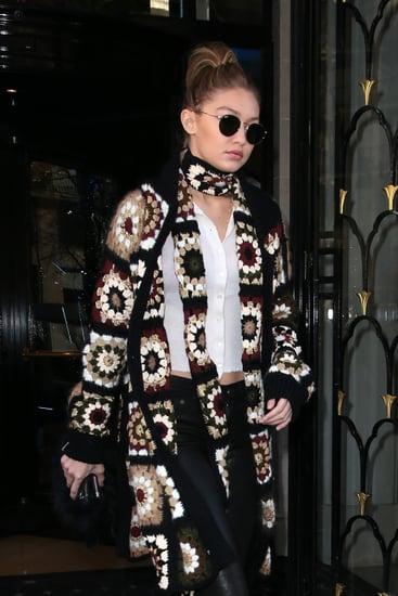 Gigi Hadid's Sweater at Paris Men's Fashion Week Fall 2016
