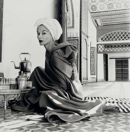 Woman in Moroccan Palace (Lisa Fonssagrives-Penn), Marrakech, 1951