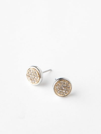 These lend sparkle in the prettiest and easiest way possible.  Crystal Disc Post Earrings by Lori's Shoes ($13)