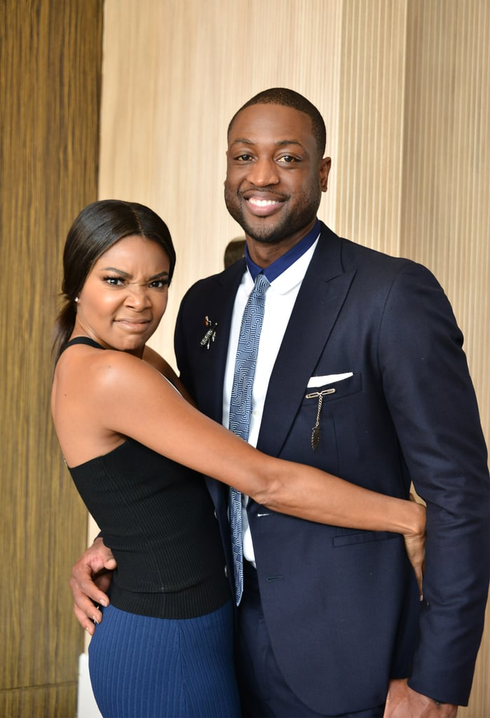 Gabrielle showed off her silly side while posing for a photo with Dwyane in May 2016.