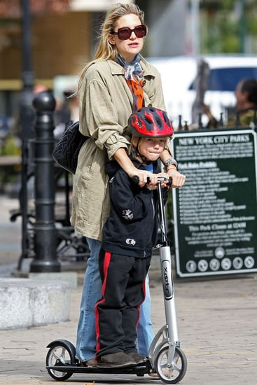 Pictures of Kate Hudson and Ryder Scooting in NYC