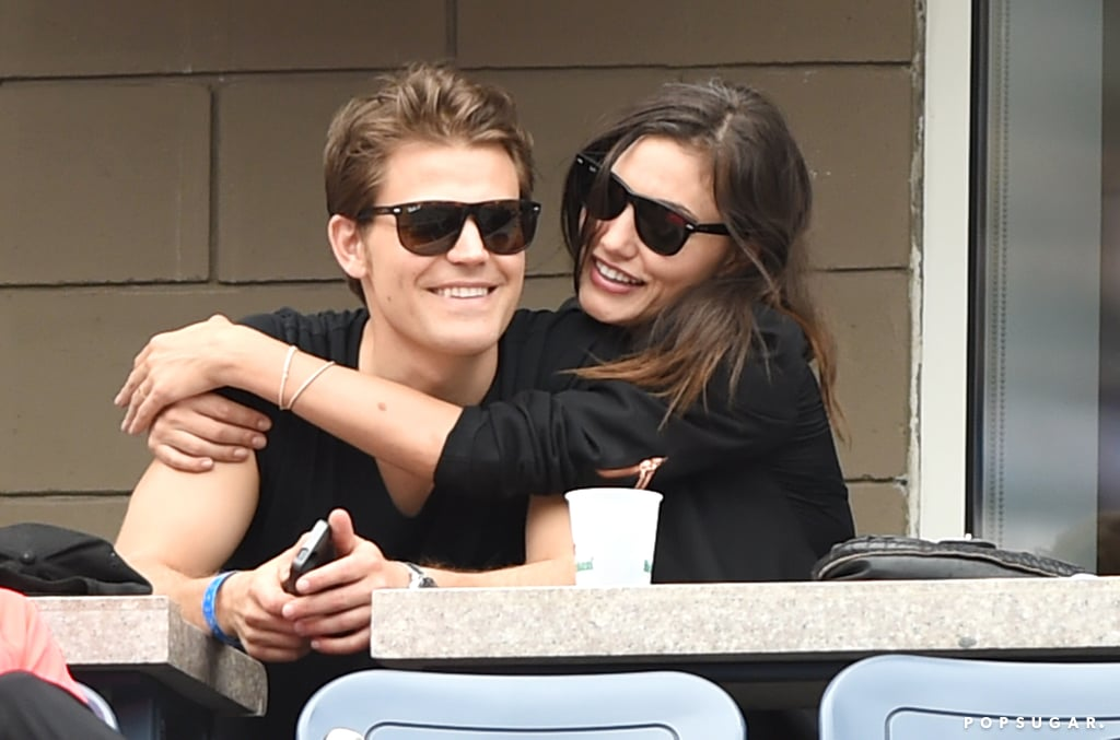 Paul Wesley and Phoebe Tonkin got cute at the US Open in NYC on Saturday.