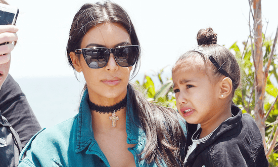 Watch Kim Kardashian Become a Toddler in Crazy Face Swap With North West