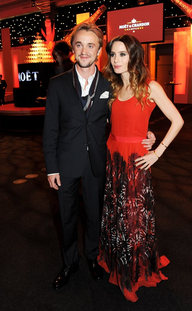 Tom Felton and Jade Gordon posed for photos at the BIFAs.