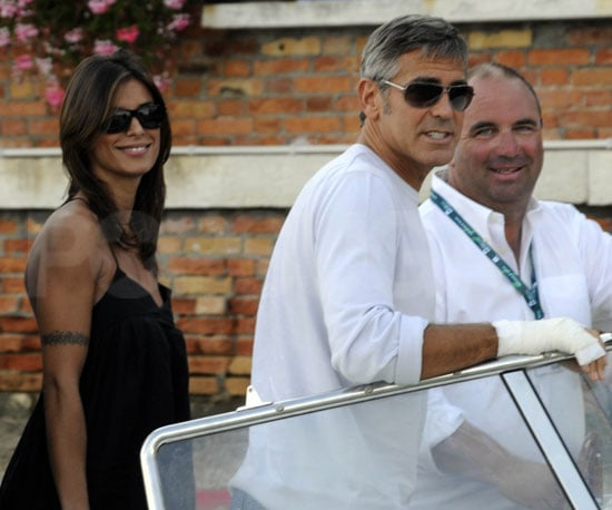 Slide Photo of George Clooney in Venice with Elisabetta Canalis