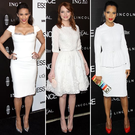Celebrities in Little White Dresses at Essence Luncheon 2012