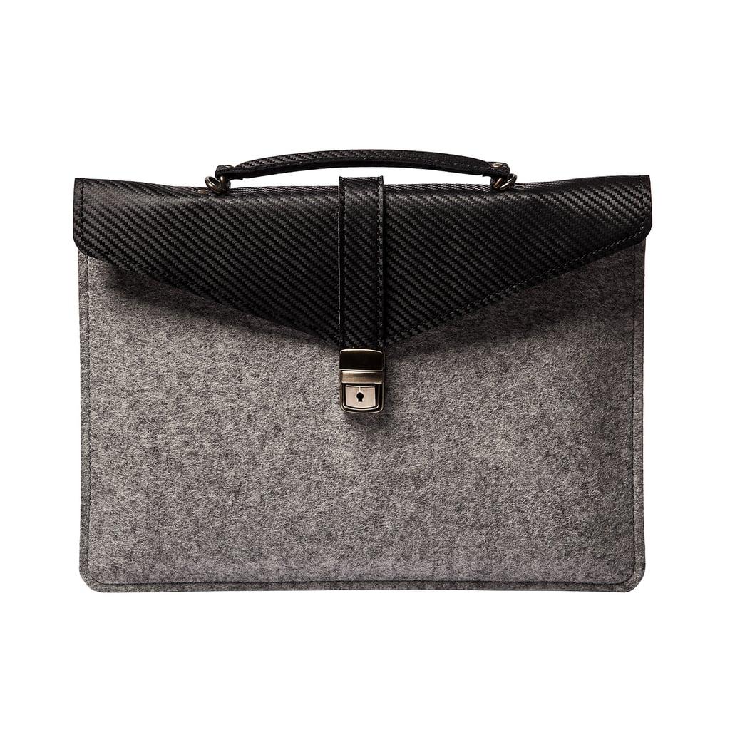 Sim Leather and Felt Laptop Case