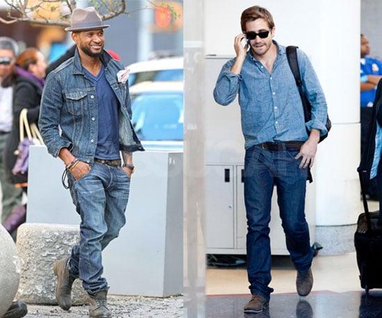 Usher and Jake Gyllenhaal Wear Denim on Denim