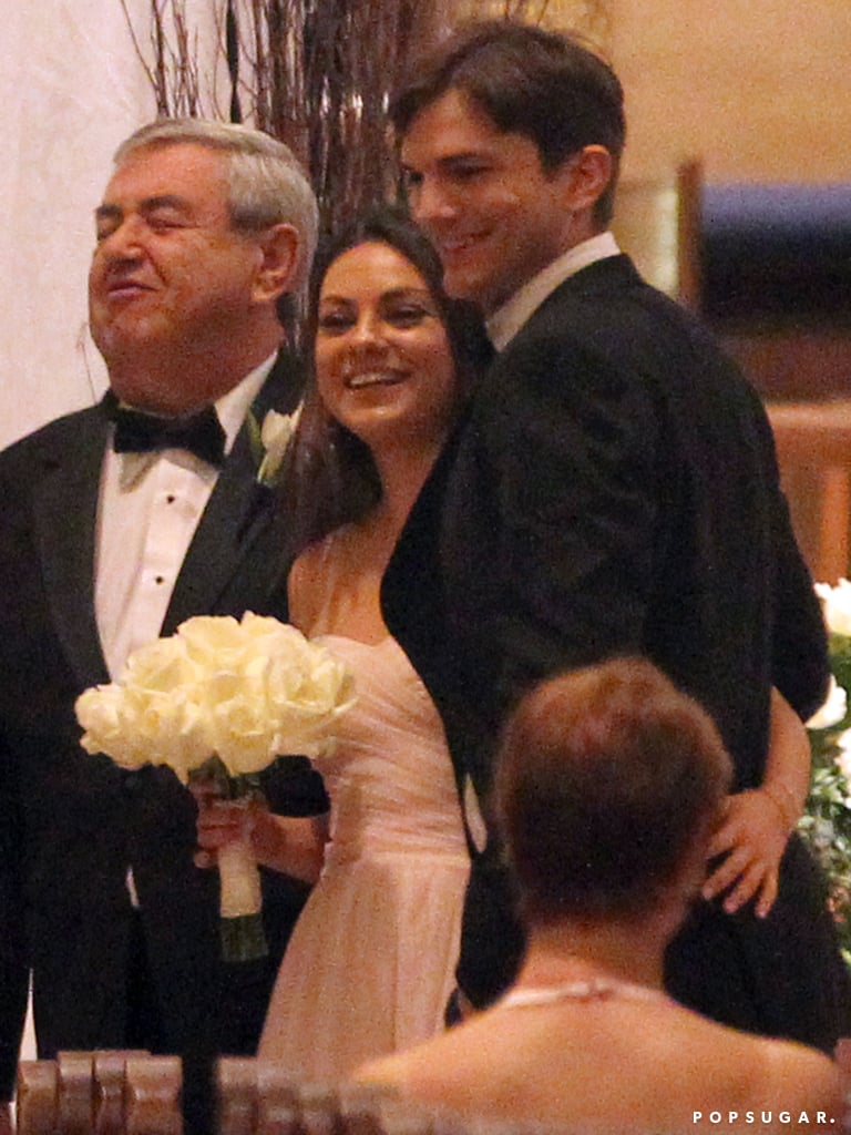 They were all smiles at her brother's Florida wedding in December 2013.