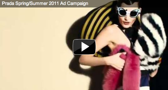 Prada Debuts Video and Print Campaign for Spring 2011 Collection 2011-01-24 07:28:13