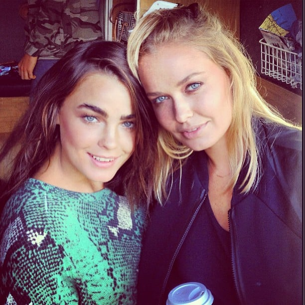 Bambi Northwood-Blyth and Lara Bingle hung out in Byron Bay. Source: Instagram user stefbambi_