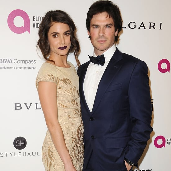 Nikki Reed and Ian Somerhalder at Elton John's Oscars Party