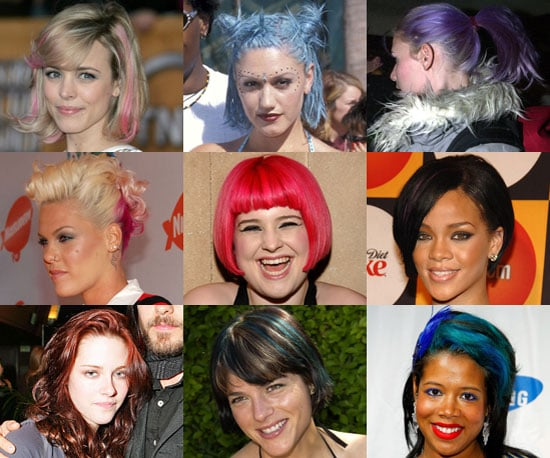 Celebrities With Bright Dyed Hair
