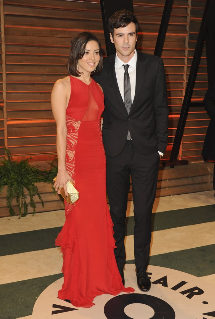 Aubrey Plaza and Mixology star Blake Lee came to the party together.