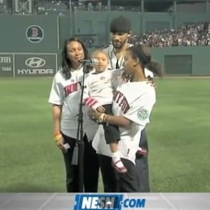 Girl Sings at Fenway Park