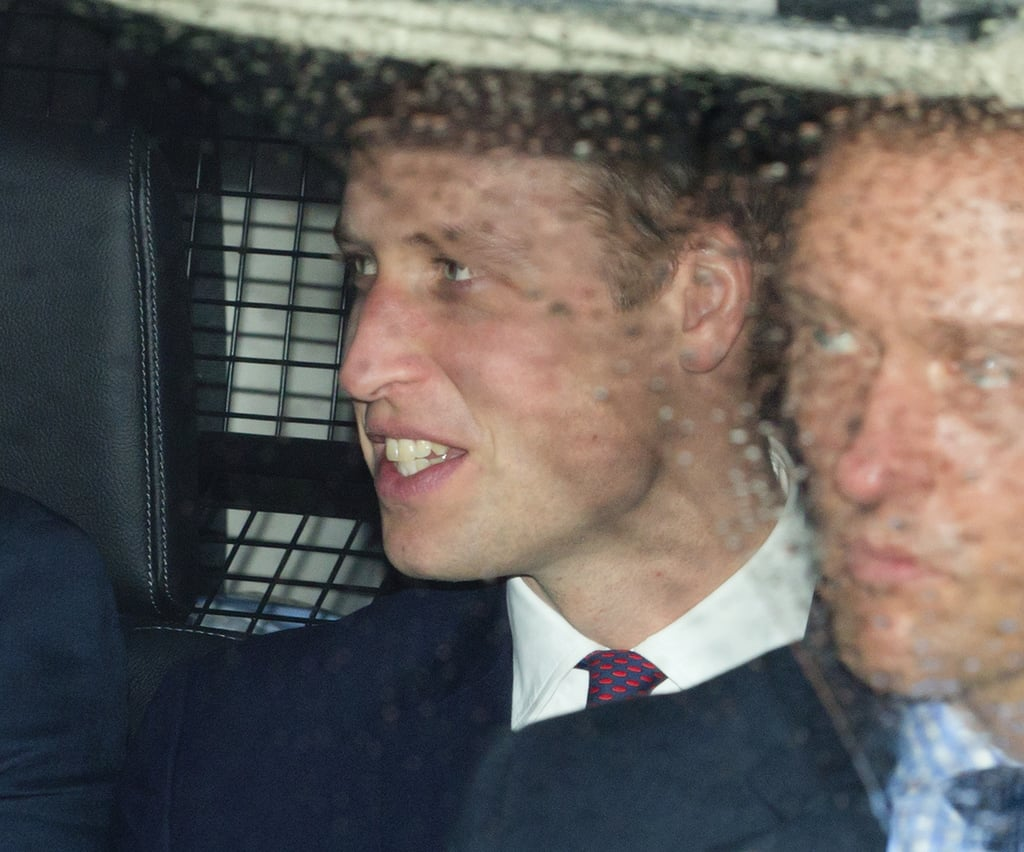 Prince William arrived separately from his wife.