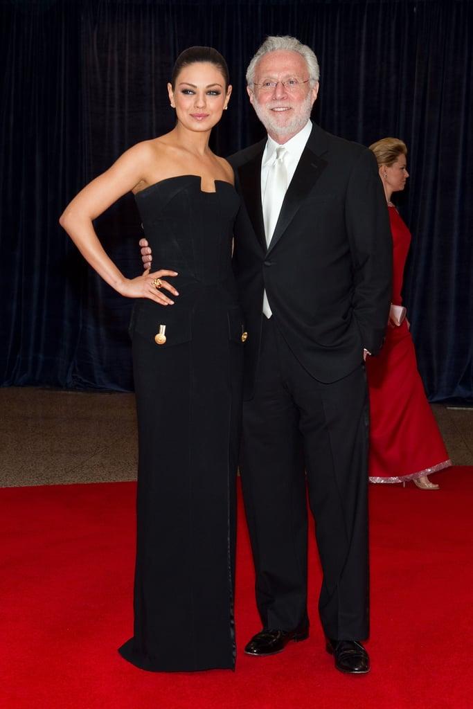 Mila Kunis and Wolf Blitzer