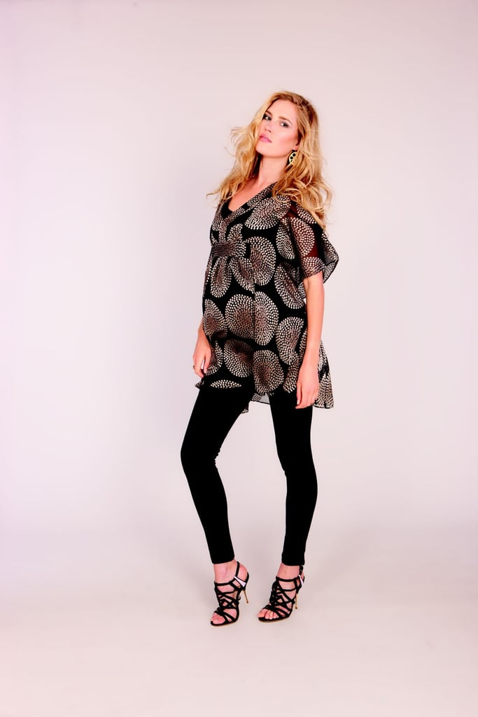 For the Office Holiday Party: Seraphine Silk Print Tunic